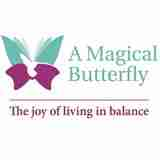 logo a magical butterfly